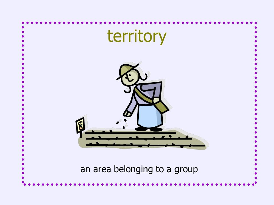 an area belonging to a group