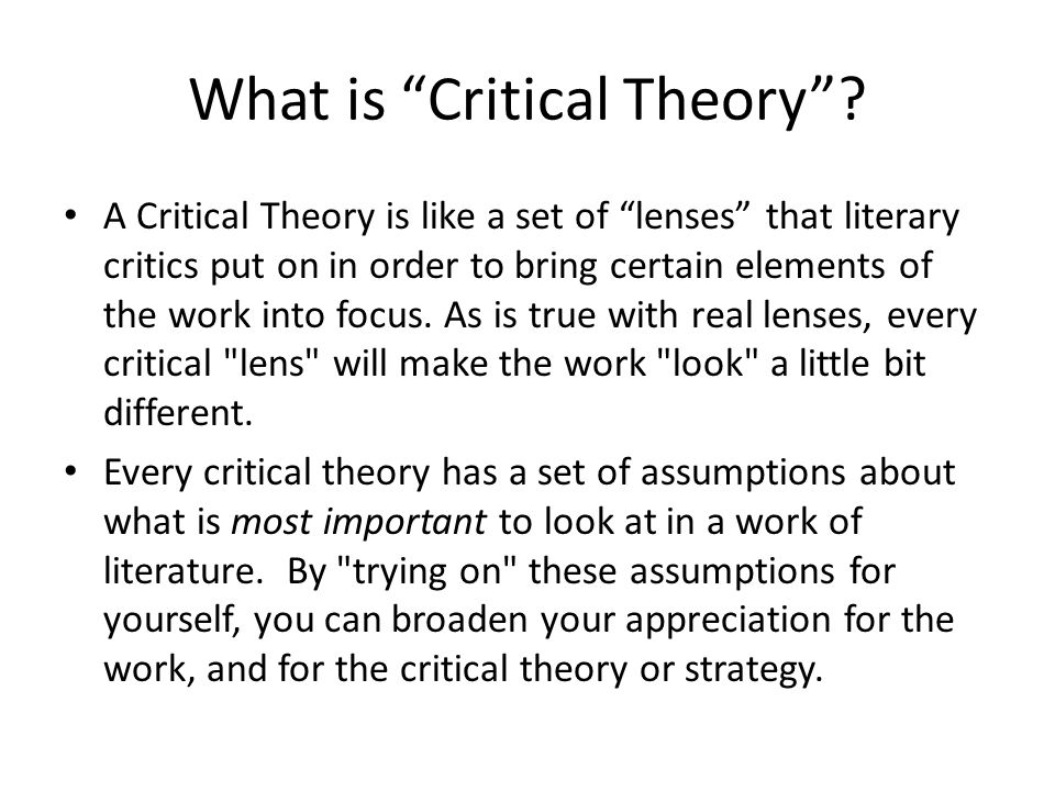The Frankfurt School and Critical Theory