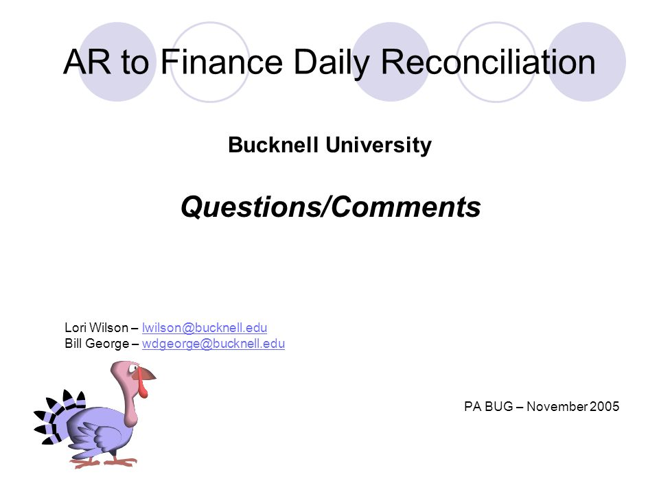 AR to Finance Daily Reconciliation