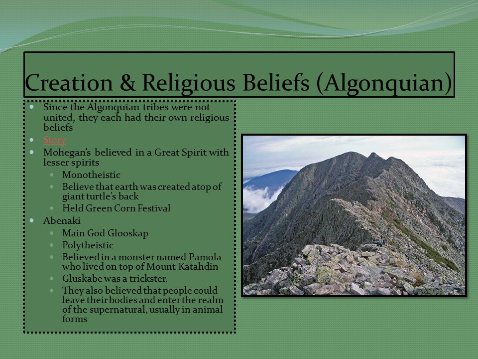 a religious perspective of the creation story by the iroquois people Native american creation  navajo creation story the southwest the people went  turtle with the great tree on his back is the symbol of the iroquois.