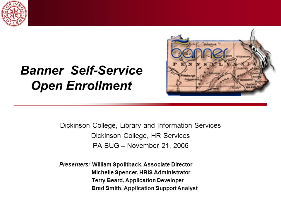 Banner Self-Service Open Enrollment