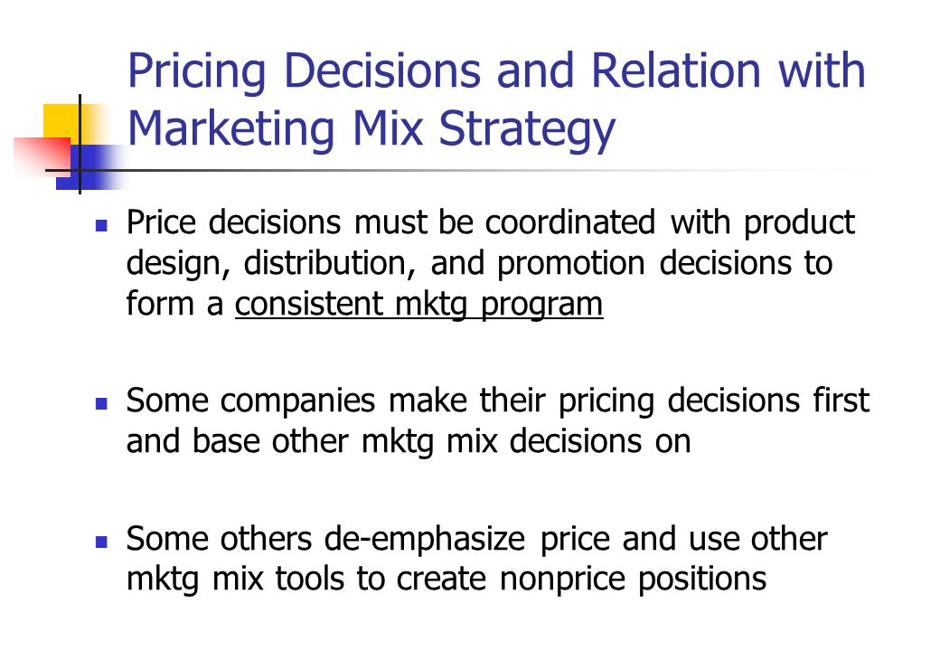 Marketing Mix | Pricing in Four P's