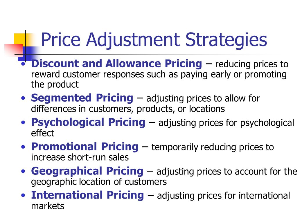price adjustment strategies Sophisticated content for financial advisors around investment strategies, industry  how to use price adjustments to get the  here are the price adjustment.