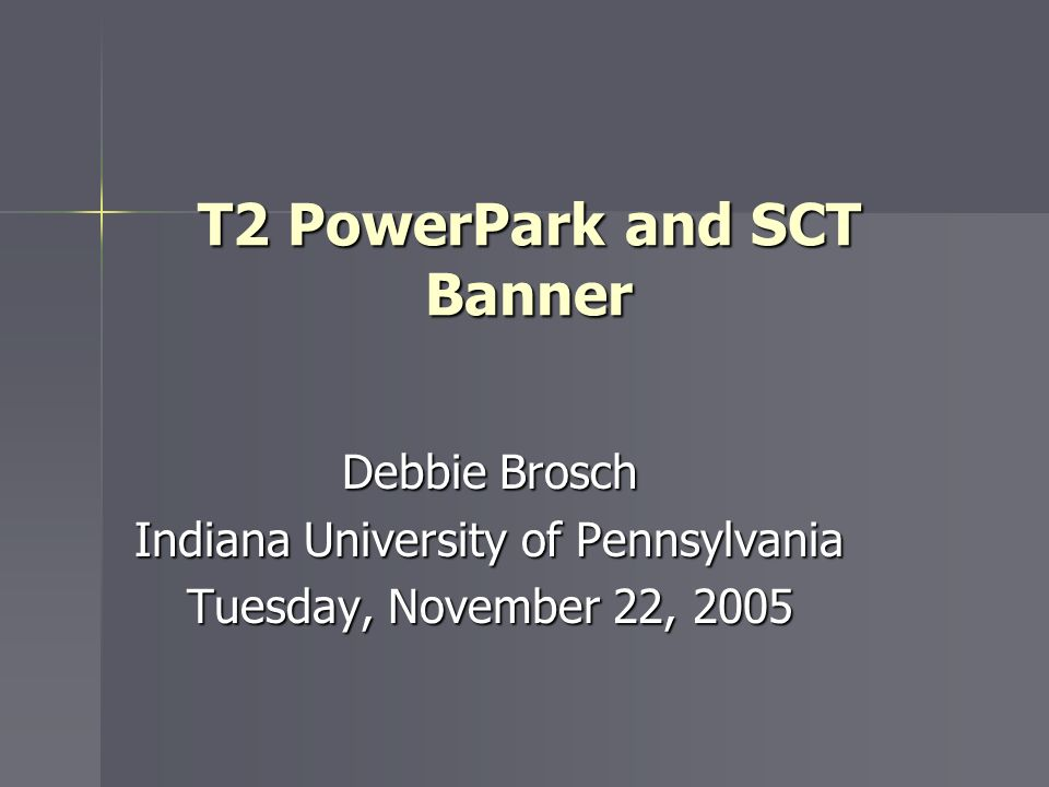 T2 PowerPark and SCT Banner