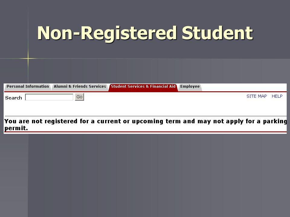 Non-Registered Student