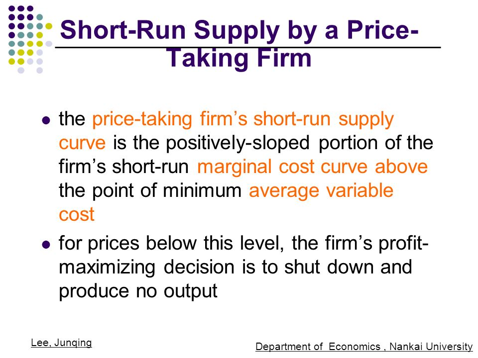 how to calculate short run price level