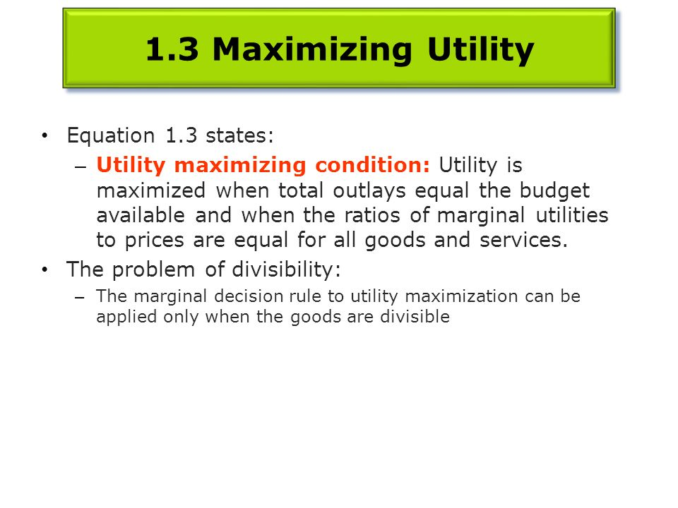 maximizing utility the price of everything C) utility-maximizing d) intertemporal choice chapter 6 utility maximizing choice (table) question 11 1 / 1 point troy has a part-time job in a book store to help pay for his college he can work up to 30 hours each week at his job, which pays $9 per hour the table below shows his utility from different levels of leisure and income.