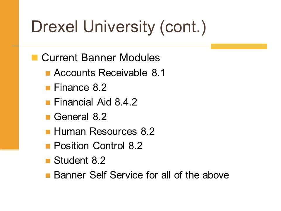 Drexel University (cont.)