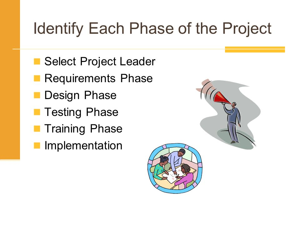 Identify Each Phase of the Project