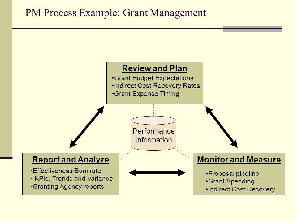PM Process Example: Grant Management