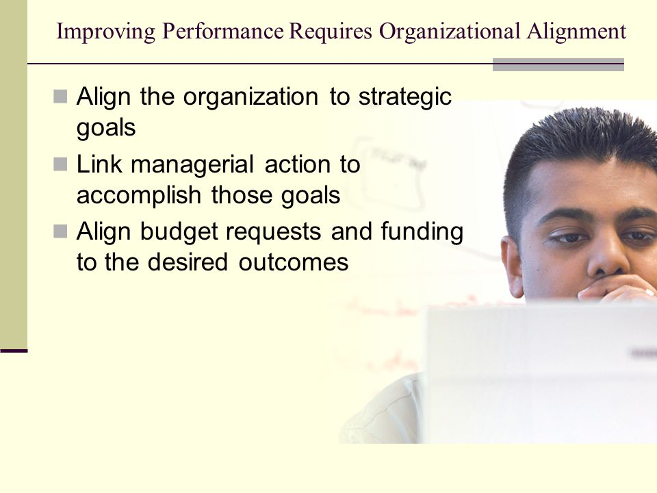 Improving Performance Requires Organizational Alignment