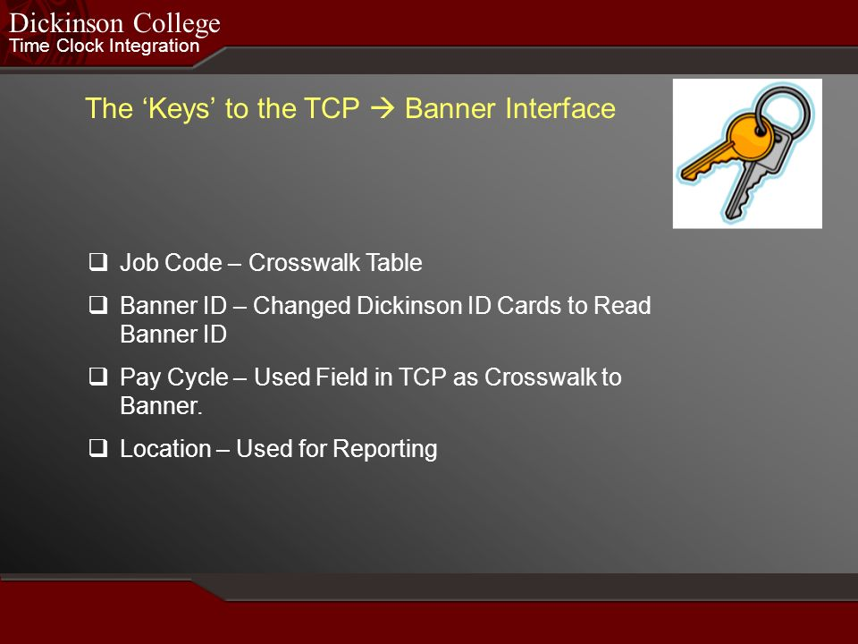 The 'Keys' to the TCP  Banner Interface