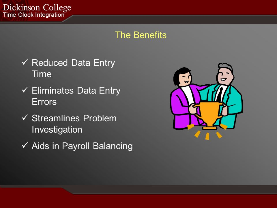 Reduced Data Entry Time Eliminates Data Entry Errors