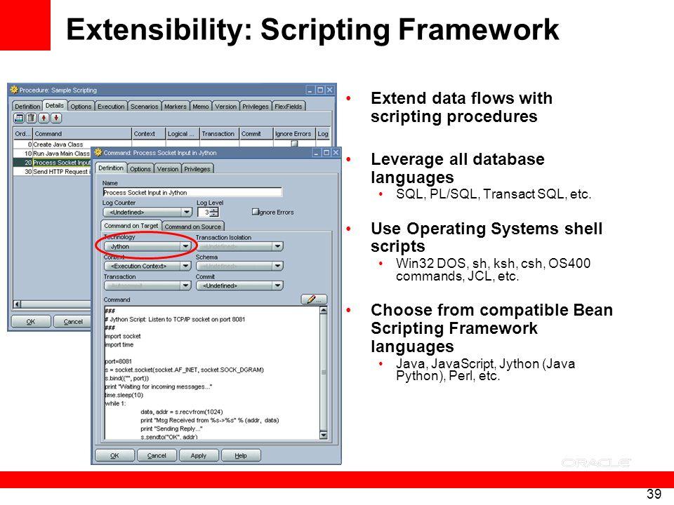 Extensibility: Scripting Framework