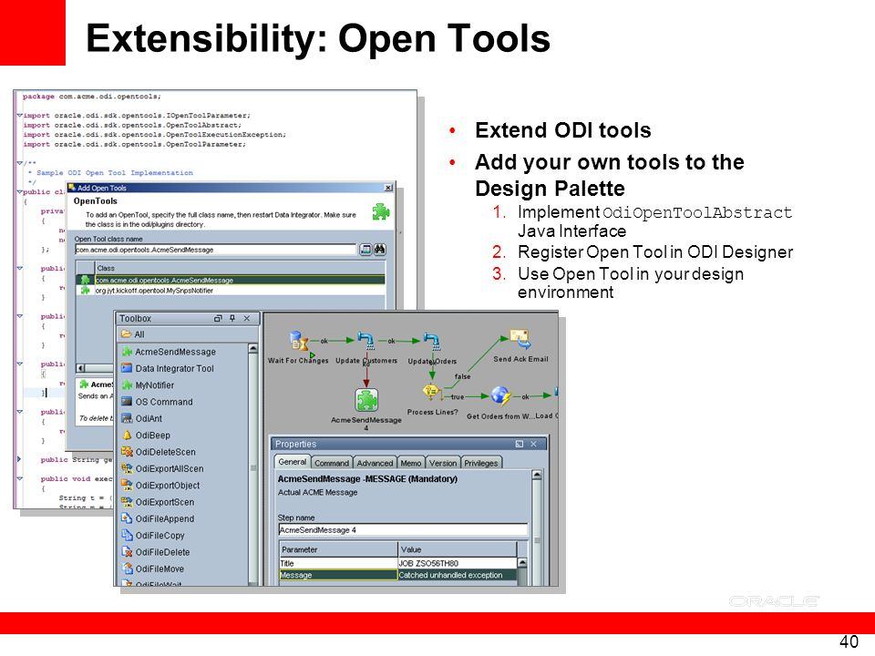 Extensibility: Open Tools