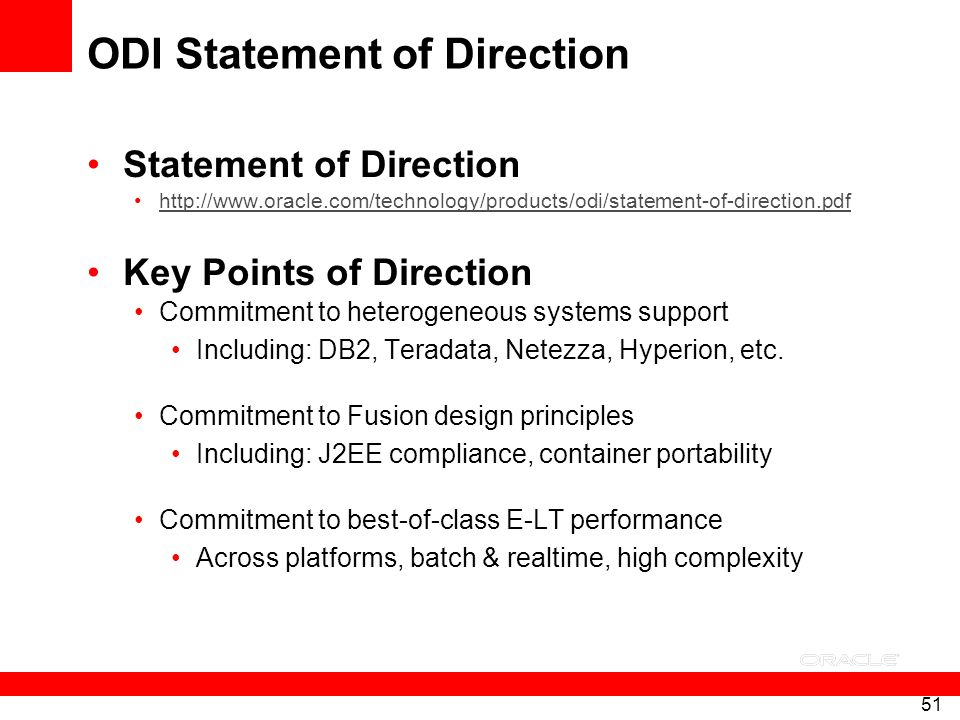 ODI Statement of Direction