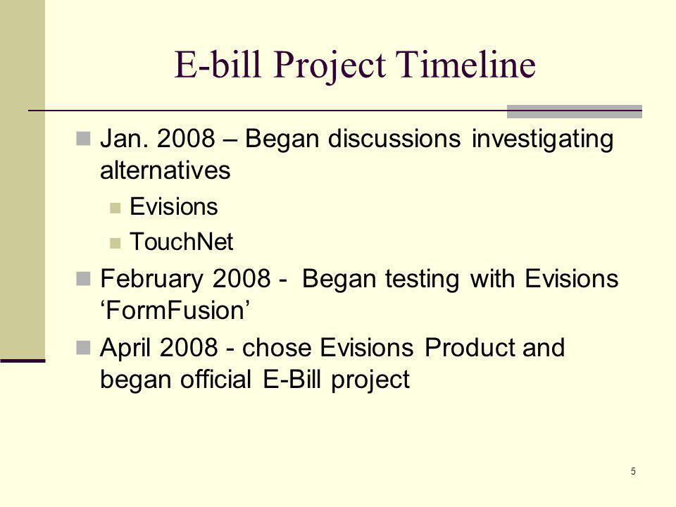 E-bill Project Timeline