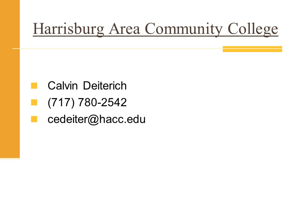 Harrisburg Area Community College