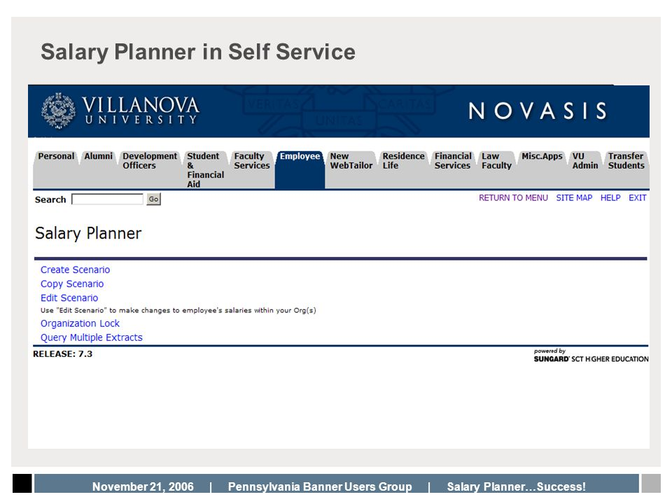 Salary Planner in Self Service