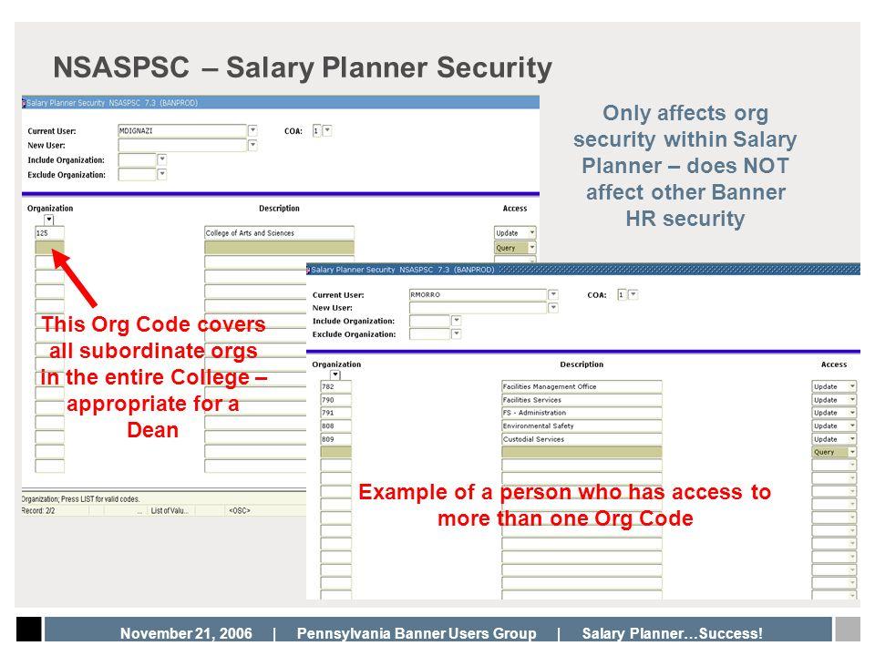 NSASPSC – Salary Planner Security