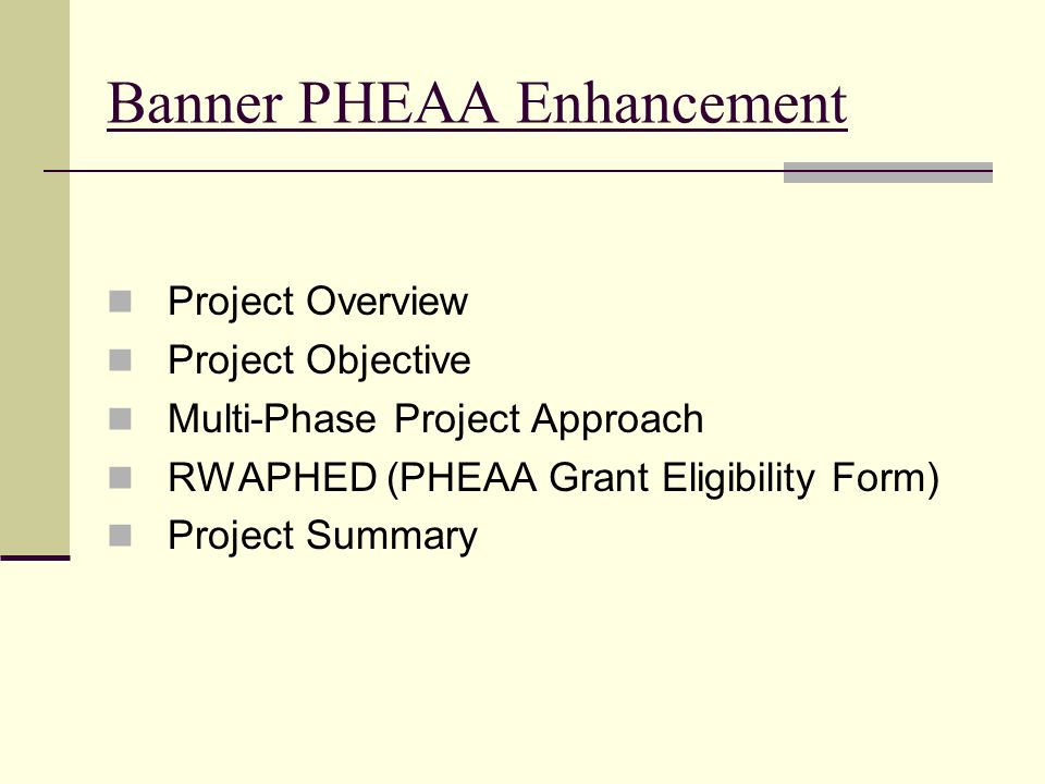 Banner PHEAA Enhancement