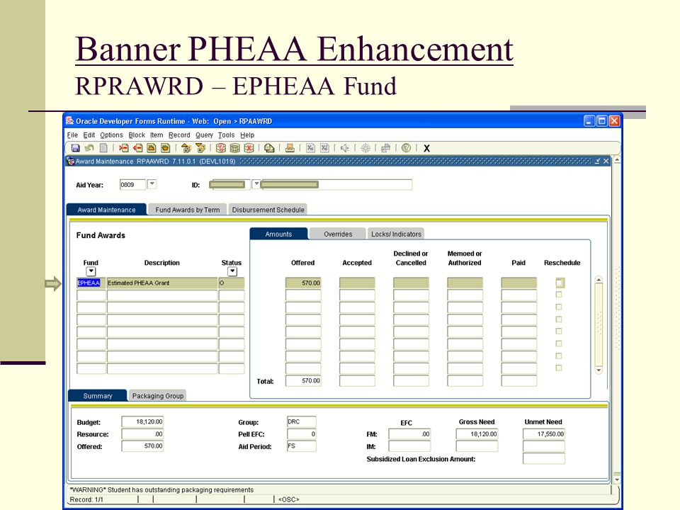 Banner PHEAA Enhancement RPRAWRD – EPHEAA Fund