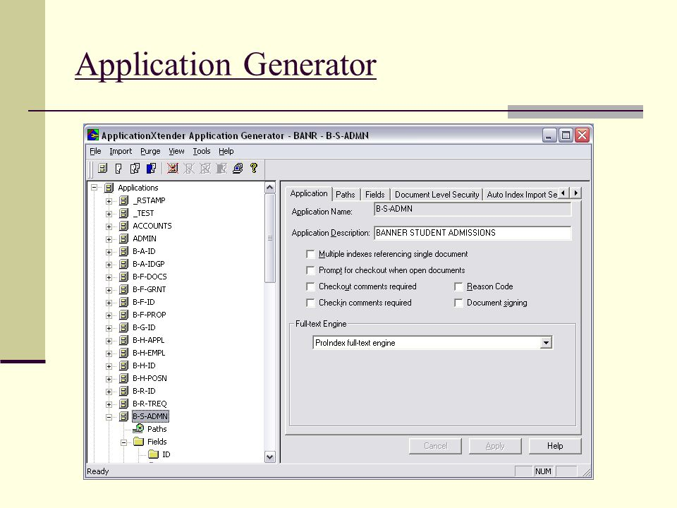 Application Generator
