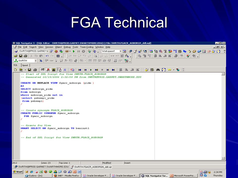 FGA Technical