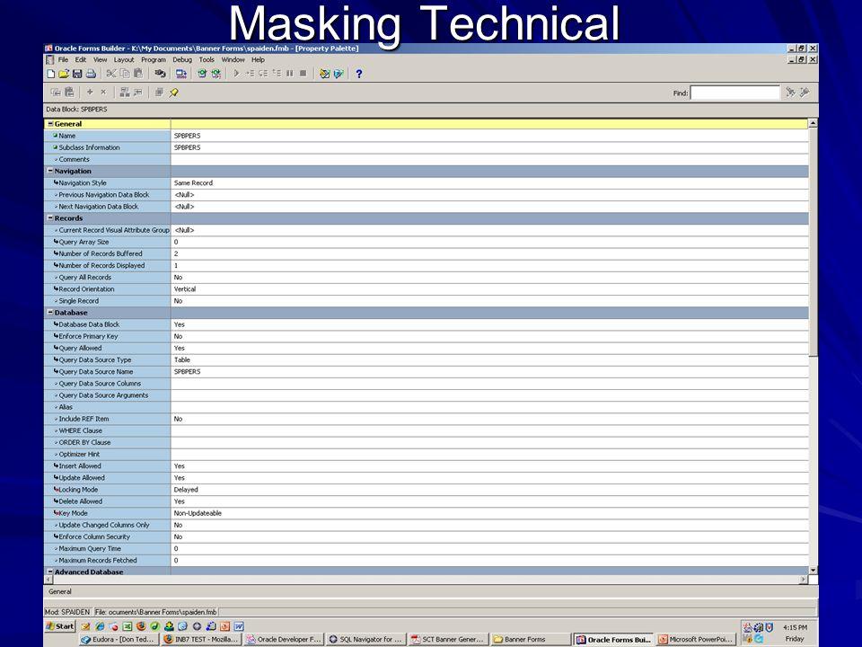 Masking Technical