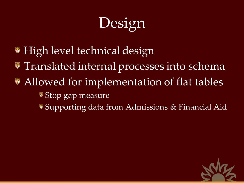 Design High level technical design