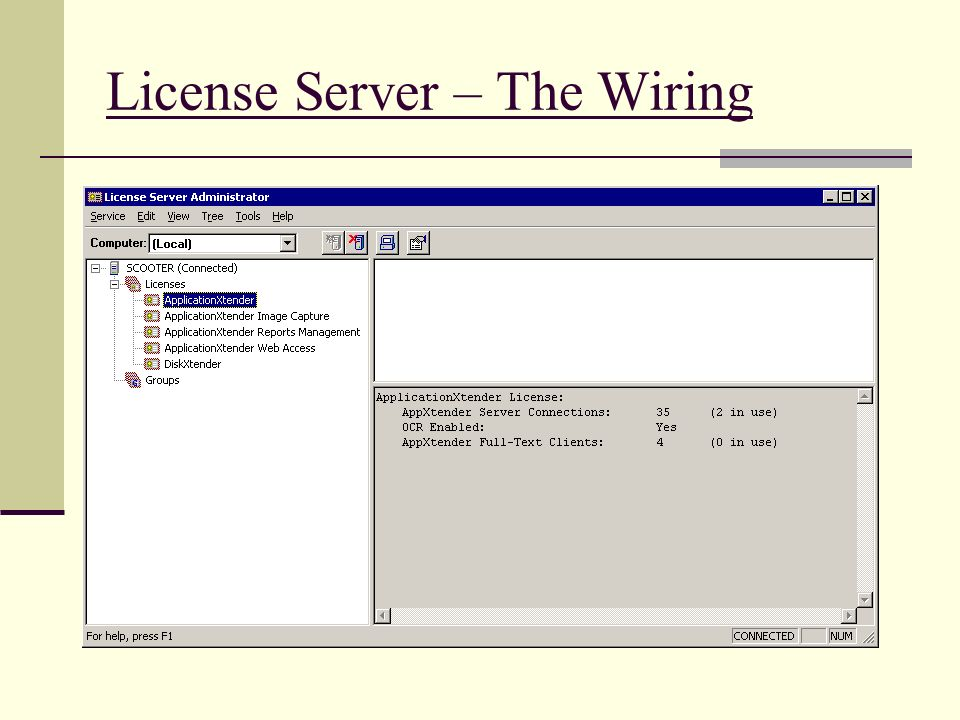 License Server – The Wiring
