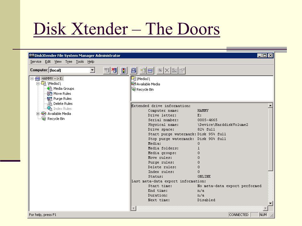 Disk Xtender – The Doors