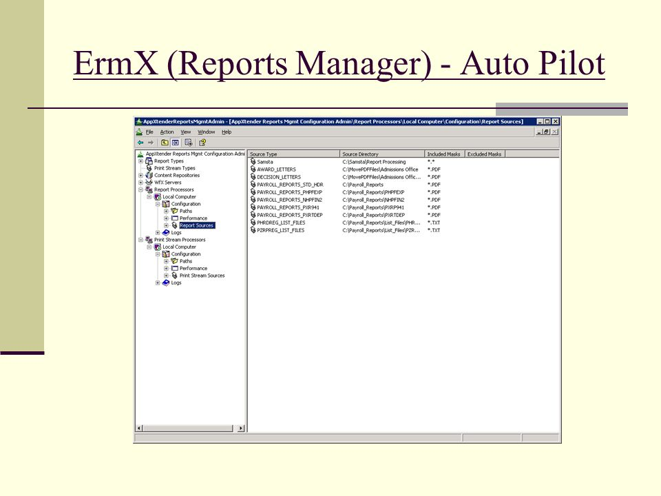 ErmX (Reports Manager) - Auto Pilot