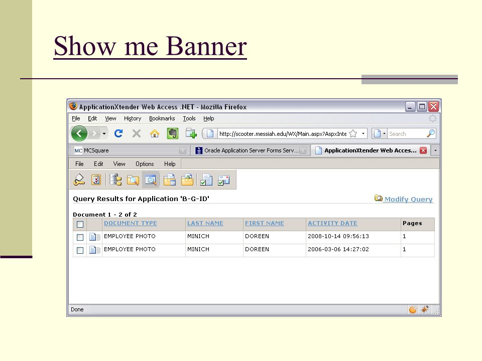 Show me Banner