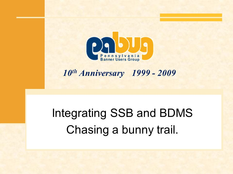 Integrating SSB and BDMS Chasing a bunny trail.