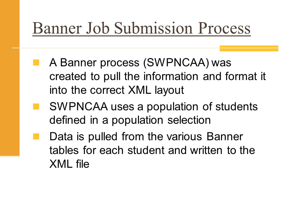 Banner Job Submission Process