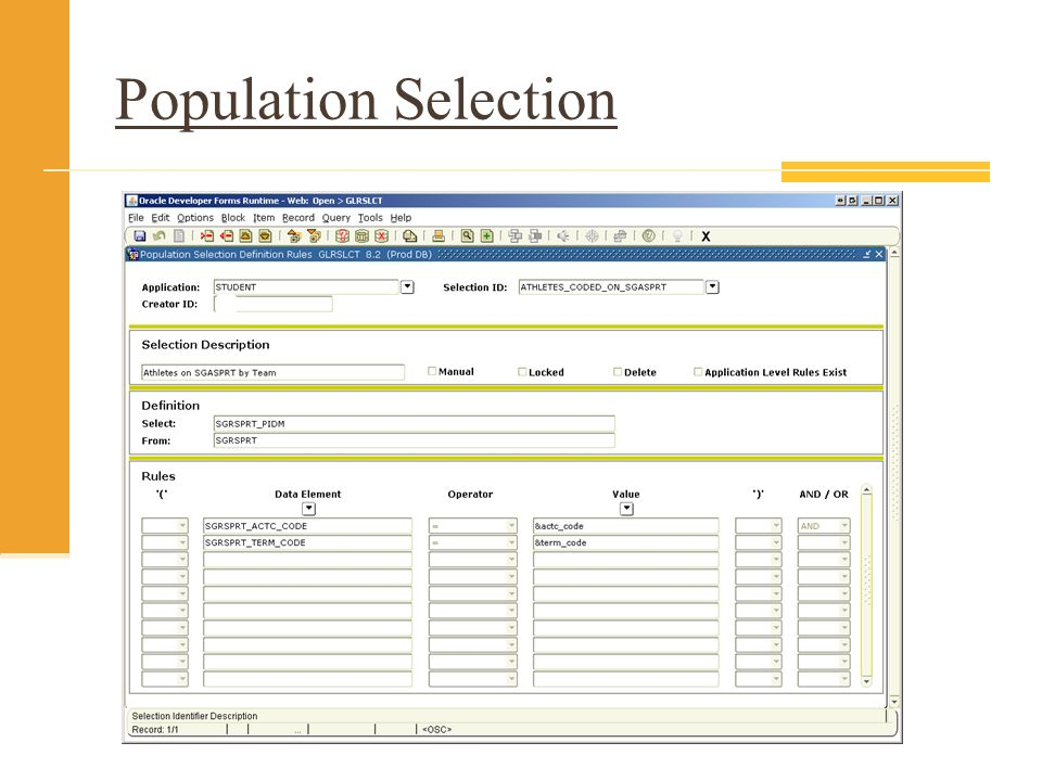 Population Selection