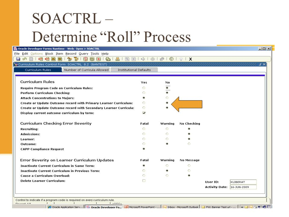 SOACTRL – Determine Roll Process
