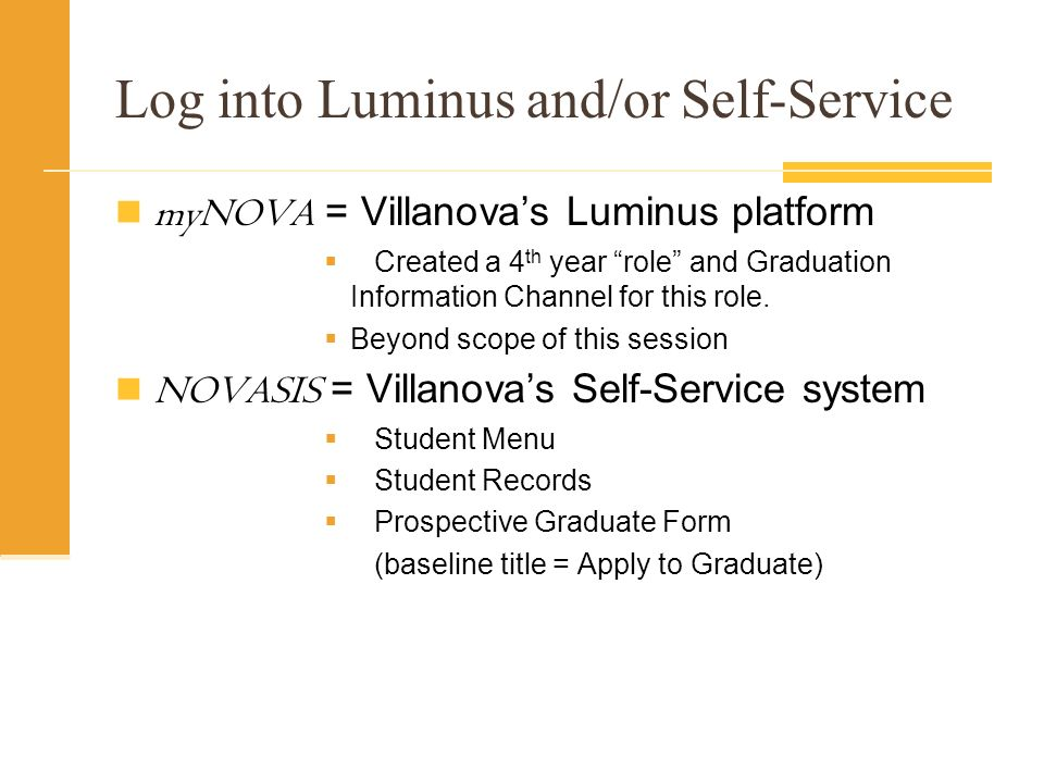 Log into Luminus and/or Self-Service