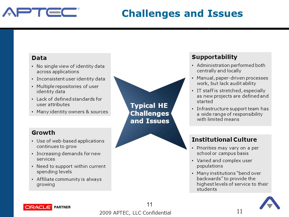 Challenges and Issues Typical HE Challenges and Issues Data
