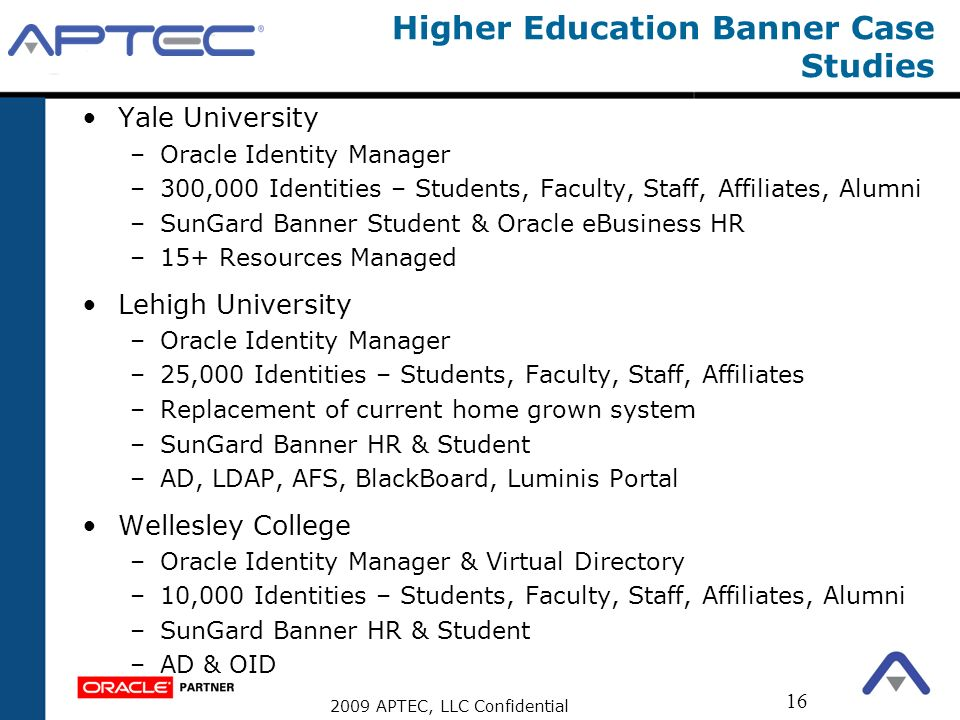 Higher Education Banner Case Studies