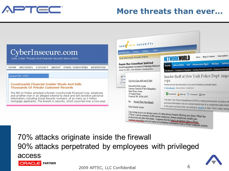 More threats than ever…