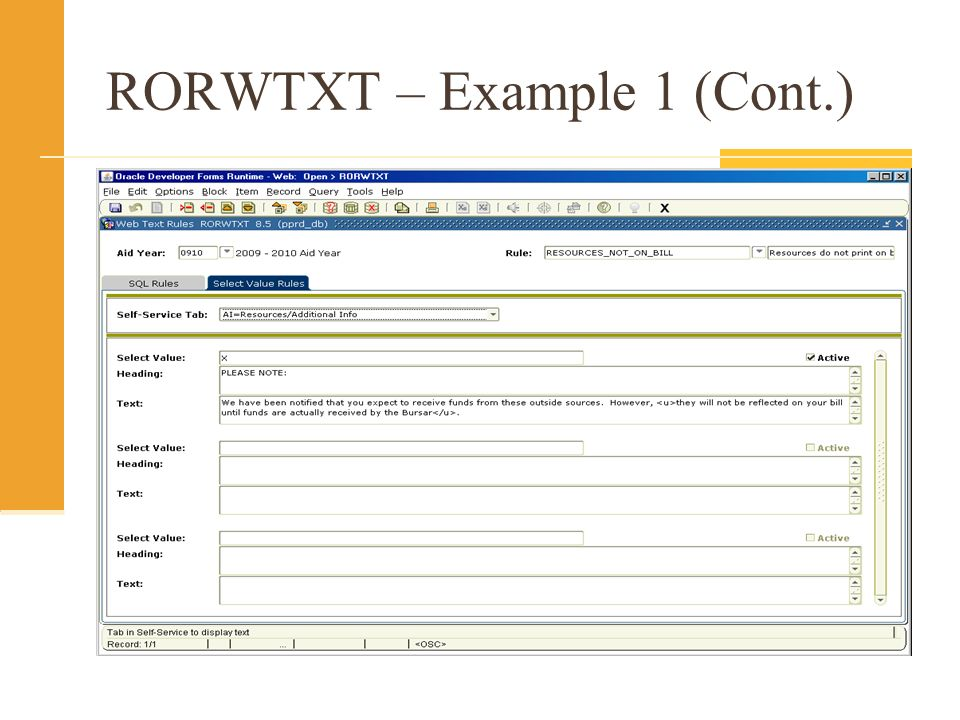 RORWTXT – Example 1 (Cont.)