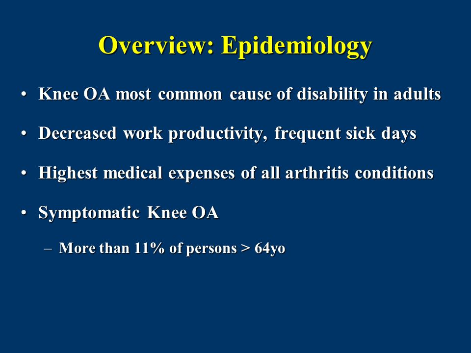 Overview: Epidemiology