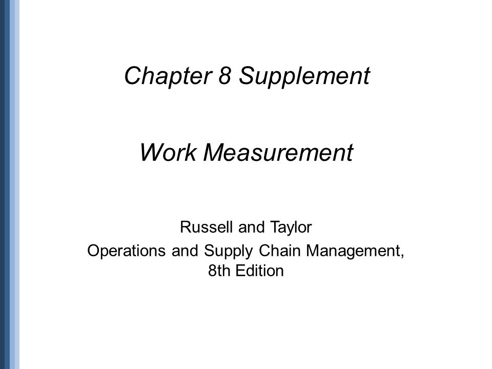 operations management russell and taylor 8th edition pdf