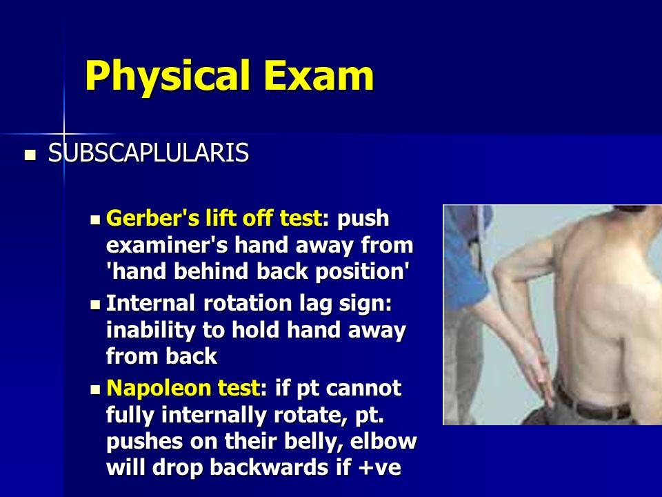Physical Exam SUBSCAPLULARIS