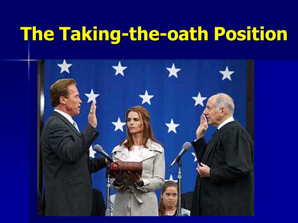 The Taking-the-oath Position