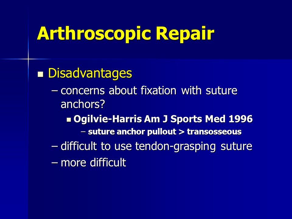 Arthroscopic Repair Disadvantages