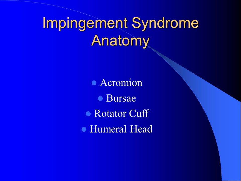Impingement Syndrome Anatomy