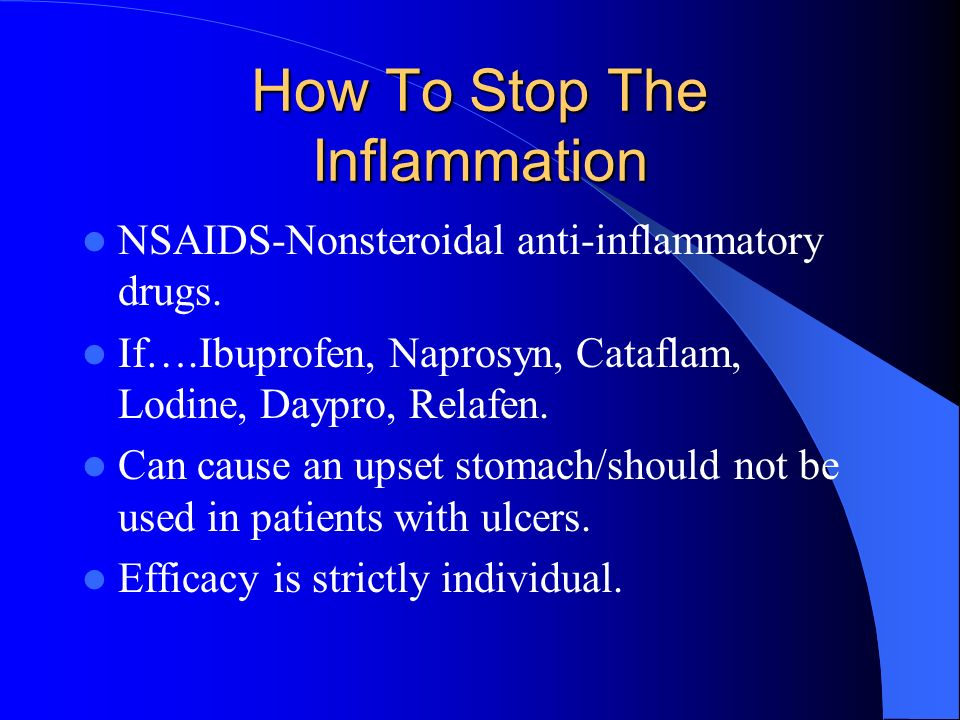 How To Stop The Inflammation